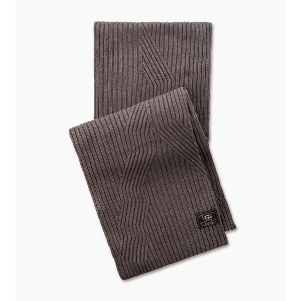 CHEAP UGG MEN'S RIBBED OVERSIZED SCARF FAWN HEATHER ONLINE