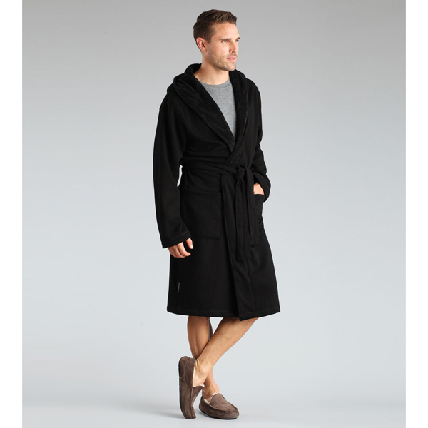CHEAP UGG MEN'S BRUNSWICK ROBE BLACK ONLINE