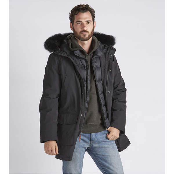 CHEAP UGG MEN'S BUTTE PARKA BLACK ONLINE