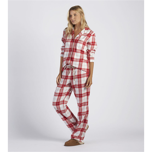 CHEAP UGG WOMEN'S RAVEN PLAID PAJAMA SET LIPSTICK RED ONLINE