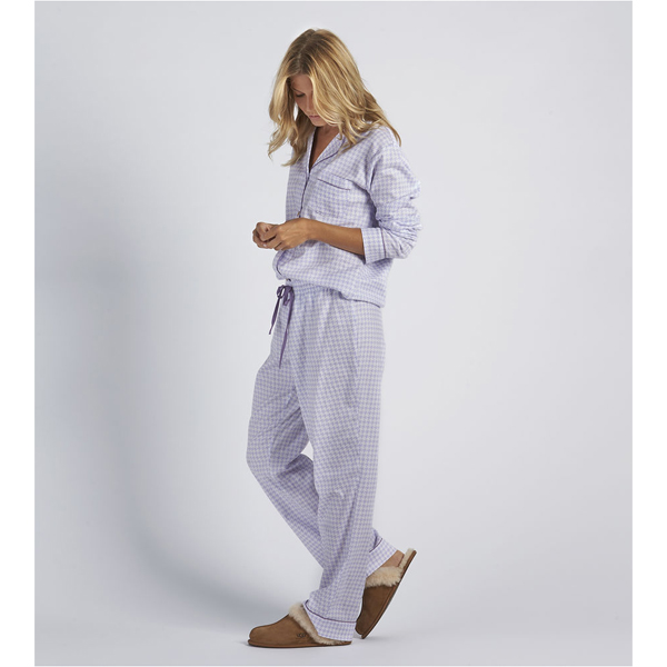 CHEAP UGG WOMEN'S RAVEN HOUNDSTOOTH PAJAMA SET ELECTRIC PURPLE ONLINE