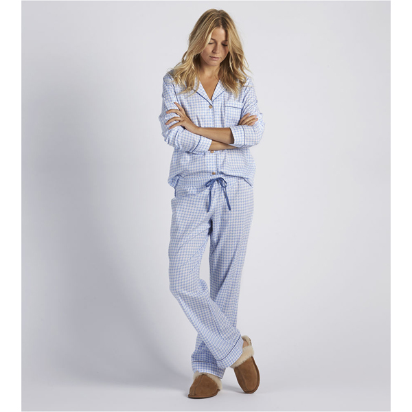 CHEAP UGG WOMEN'S RAVEN HOUNDSTOOTH PAJAMA SET PAJAMA BLUE ONLINE