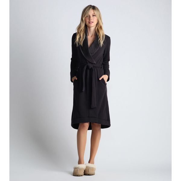 CHEAP UGG WOMEN'S DUFFIELD ROBE CHARCOAL ONLINE