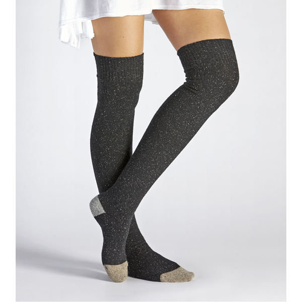 CHEAP UGG WOMEN'S COLOR BLOCKED RIB OVER THE KNEE SOCK CHARCOAL ONLINE