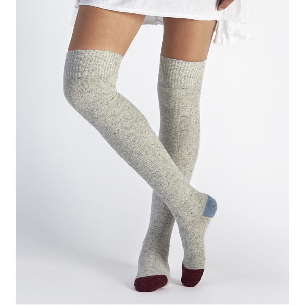 CHEAP UGG WOMEN'S COLOR BLOCKED RIB OVER THE KNEE SOCK  LIGHT SEAL ONLINE