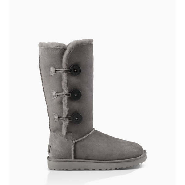 CHEAP UGG WOMEN'S BAILEY BUTTON TRIPLET II GREY ONLINE
