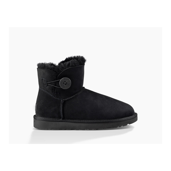 CHEAP UGG WOMEN'S MINI BAILEY BUTTON II BLACK ONLINE
