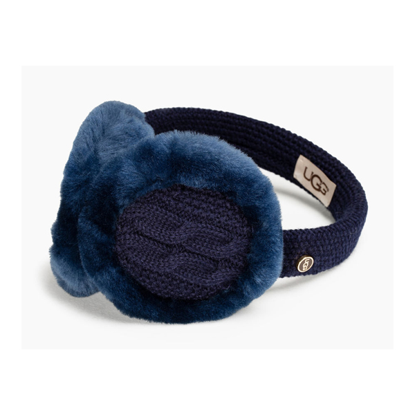 CHEAP UGG WOMEN'S WIRED CABLE EARMUFF NAVY M ONLINE