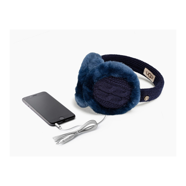 CHEAP UGG WOMEN\'S WIRED CABLE EARMUFF NAVY M ONLINE