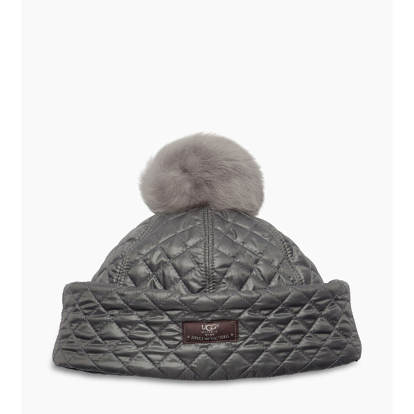 CHEAP UGG WOMEN'S QUILTED POM HAT GREY MULTI ONLINE